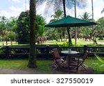 cafe overlooking the park... | Shutterstock . vector #327550019