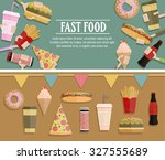 fast food flayer  poster.... | Shutterstock .eps vector #327555689
