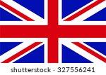 flag of united kingdom | Shutterstock .eps vector #327556241