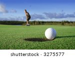 a golf ball just about to go in ... | Shutterstock . vector #3275577