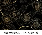 vector seamless roses pattern