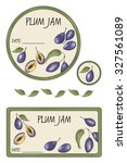 label plum jam | Shutterstock . vector #327561089