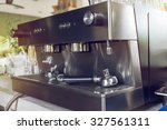 tool of automatic coffee... | Shutterstock . vector #327561311