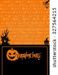 halloween background. happy... | Shutterstock . vector #327564215