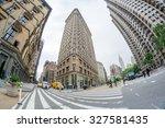 new york   june 13   flat iron...   Shutterstock . vector #327581435