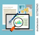 income statement accounting...   Shutterstock .eps vector #327582965