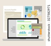 account payable accounting... | Shutterstock .eps vector #327582971