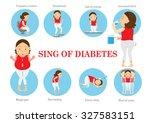 symptoms of diabetes... | Shutterstock .eps vector #327583151
