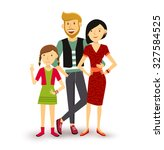 people collection  one child... | Shutterstock .eps vector #327584525