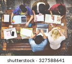 diversity teamwork... | Shutterstock . vector #327588641