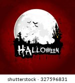 halloween background poster on... | Shutterstock .eps vector #327596831