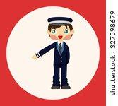 flight captain theme elements | Shutterstock .eps vector #327598679