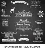 christmas label and design... | Shutterstock .eps vector #327603905