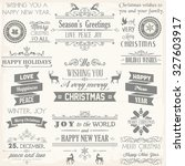 christmas label and design... | Shutterstock .eps vector #327603917