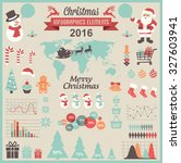 christmas infographic set | Shutterstock .eps vector #327603941