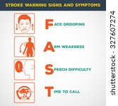 stroke warning signs and... | Shutterstock .eps vector #327607274
