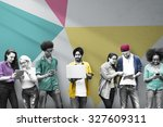 students learning education...   Shutterstock . vector #327609311