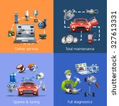 car maintenance and service... | Shutterstock . vector #327613331