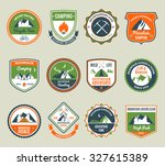 mountain adventure and extreme... | Shutterstock . vector #327615389