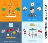 hotel services design concept... | Shutterstock . vector #327615455