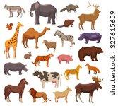 big wild domestic and farm... | Shutterstock . vector #327615659