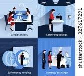 bank people design concept set... | Shutterstock . vector #327617291