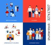 family design concept set with...   Shutterstock . vector #327617837