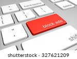ad blocking key on a computer... | Shutterstock . vector #327621209