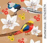 Seamless Nature Pattern With...