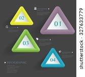 3d modern vector abstract step...