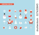 christmas and new year icon set ... | Shutterstock .eps vector #327633845