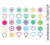 colorful nature icon set....