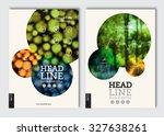 business brochure design... | Shutterstock .eps vector #327638261