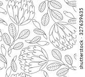 vector flower seamless pattern. ... | Shutterstock .eps vector #327639635