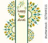 creative happy diwali greeting... | Shutterstock .eps vector #327644111