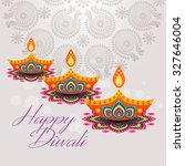 beautiful greeting card for... | Shutterstock .eps vector #327646004