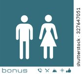 man and woman icons  toilet sign   Shutterstock .eps vector #327647051