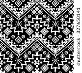 tribal art boho seamless... | Shutterstock . vector #327650141