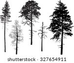 illustration with pine... | Shutterstock .eps vector #327654911