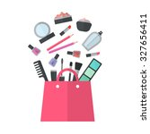make up concept vector flat... | Shutterstock .eps vector #327656411