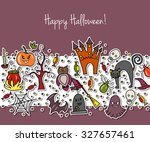 vector happy halloween party... | Shutterstock .eps vector #327657461