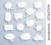 set of funny vector shaded... | Shutterstock .eps vector #327657539