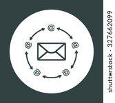 internet e mai. icon. vector... | Shutterstock .eps vector #327662099
