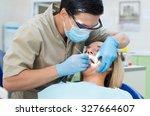 healthy teeth. confident... | Shutterstock . vector #327664607