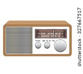 old vintage radio receiver on... | Shutterstock .eps vector #327667517