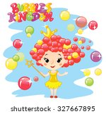 little princess of bubble land | Shutterstock .eps vector #327667895