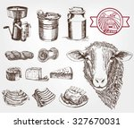 sheep breeding. set of sketches ... | Shutterstock .eps vector #327670031