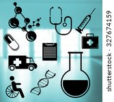 medical icons set  on abstract... | Shutterstock . vector #327674159