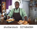 african young man looking at... | Shutterstock . vector #327686084