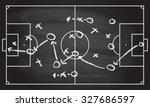 football or soccer game... | Shutterstock . vector #327686597